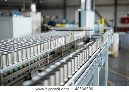 canned conveyor belt production of cans, for the production of cans shop