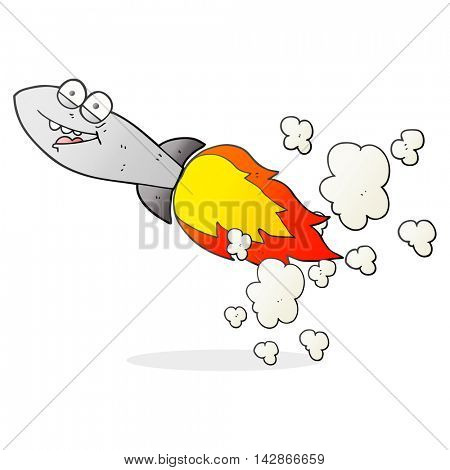 freehand drawn cartoon missile