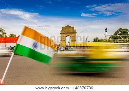 Motion Blurr at India Gate in Delhi