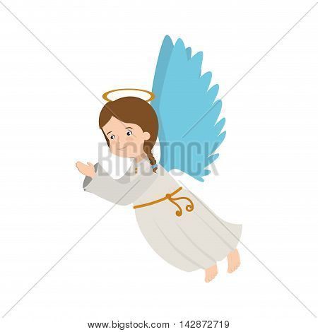 angel heaven musical instrument halo wing  vector  isolated illustration
