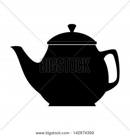 tea pot handle  drink morning teacup steam vector  isolated and flat illustration