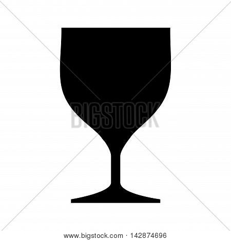 glass drink cup crystal glassware cocktail silhouette   vector  isolated illustration