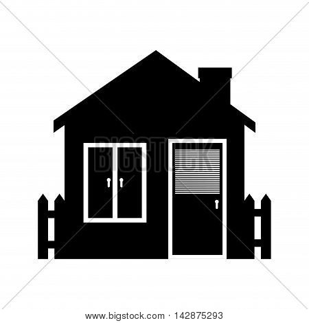 home window porch garden entrance chimney house  vector  isolated illustration