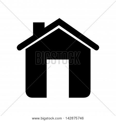 house chimney home property traditional classic door roof vector  isolated illustration