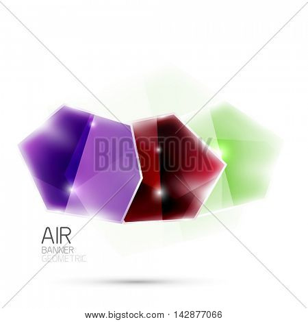 Glossy elements. Geometric abstract shapes on white. Abstract background. blank illustration