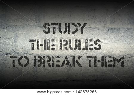Study The Rules To
