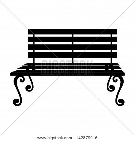 bench chair seat furniture relaxing comfortable stripe vector  isolated illustration
