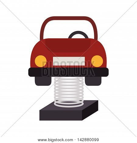 car attraction children playground baby recreation vehicle vector  isolated illustration
