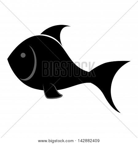 fish animal fishing sea ocean aquatic silhouette water vector  isolated illustration