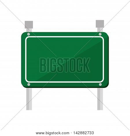 green signboard road sign rectangle bars direction vector illustration isolated