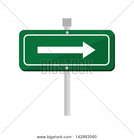 green arrow signboard road sign rectangle bars direction vector illustration isolated