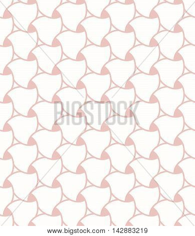 Seamless vector ornament. Modern geometric pattern with repeating elements. Pink and white pattern