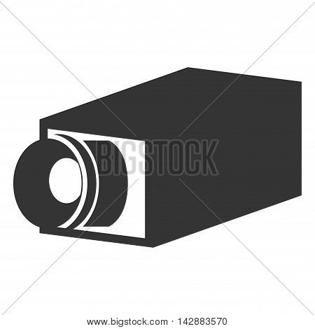 camera security system protection technology surveillance protection vector  isolated and flat illustration
