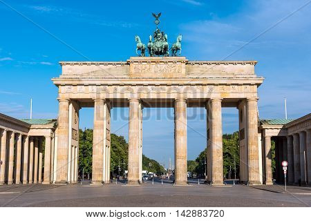 The Brandenburger Tor in Berlin on a sunny morning