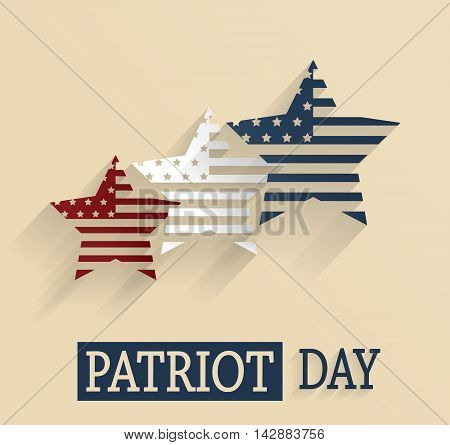 Patriot Day. Red, white and blue stars. Vector illustration.