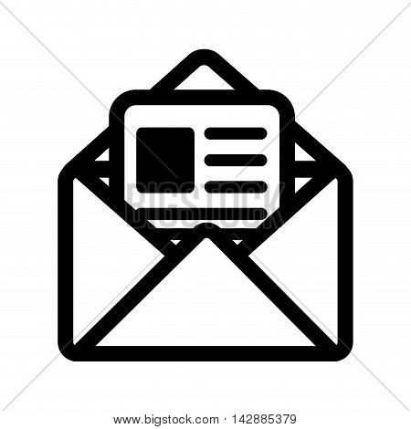 mail letter envelope post postal correspondence letter post newsletter vector  isolated and flat illustration