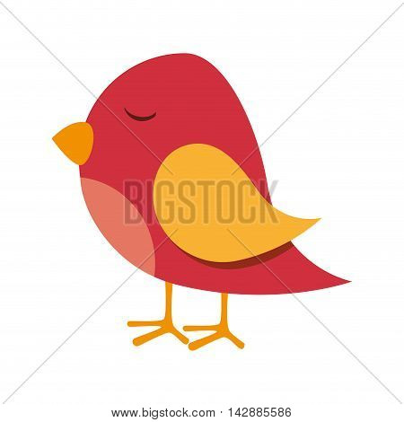 bird fly cute animal wing chick nature vector  isolated and flat illustration