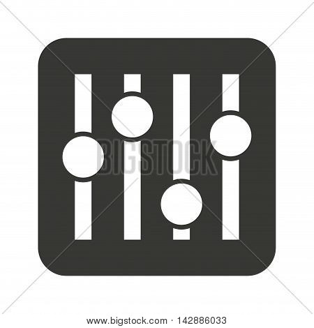 music panel control isolated icon vector illustration design