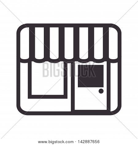 shop store door front building local window vector  isolated and flat illustration
