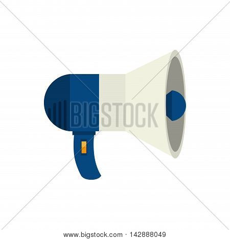 megaphone speak device loud announcement broadcast symbol vector  isolated illustration