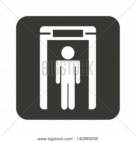 person scanner machine airport check vector illustration design