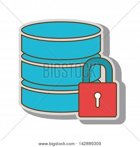 database hard disk host information cylinder system data pc vector  illustration isolated