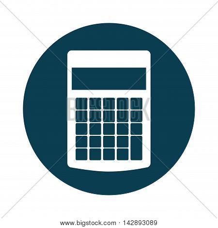 calculator digital math icon vector isolated design