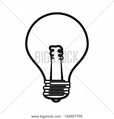 bulb light electricity idea illumination power bright think vector  isolated and flat illustration
