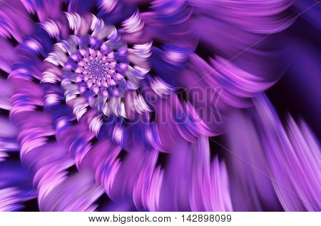 abstract fractal background a computer-generated 2D illustration spiral flower