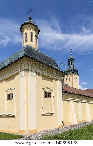 Monastery in Stoczek Klasztorny is mostly known from confinement of Cardinal Wyszynski in 1953 by comunist party in Poland.