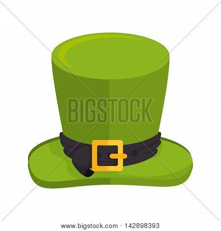 hat saint patrick cap lucky ireland goodluck costume vector illustration isolated