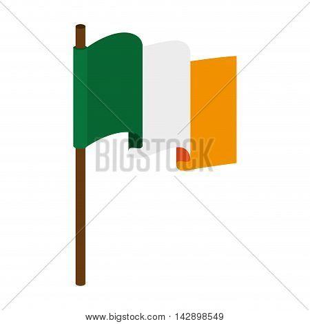 flag ireland irish national country symbol pride vector  illustration isolated