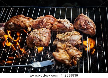 Grilling Spiced Chicken