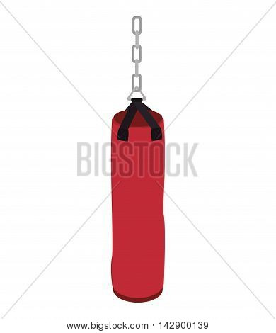 punching sack boxing training sansack hit knockout vector illustration isolated