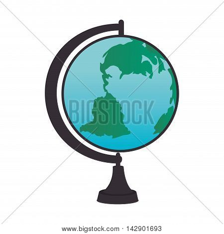globe object school geography global world map  vector illustration isolated