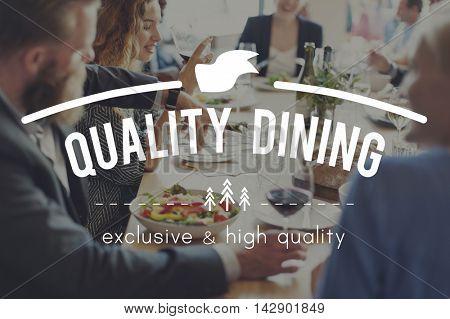 Quality Dining Bistro Cafeteria Cuisine Restaurant Concept