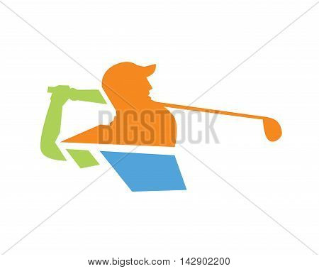 Modern Golf Logo - Professional Golf Symbol