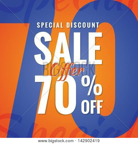 Special Discount Sale 70 Percent Heading Simple Modern Design For Banner Or Poster. Sale And Discoun