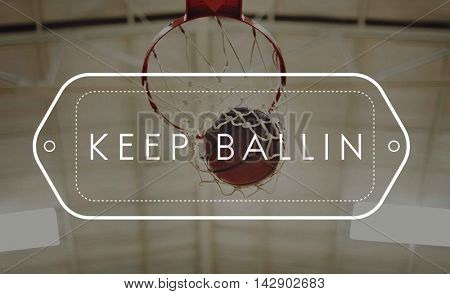 Basketball Winning Point Competition Concept