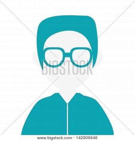 flat design faceless man portrait icon vector illustration
