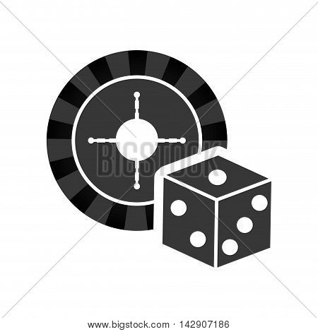 roulette dice casino vegas icon. Flat and Isolated design. Vector illustration