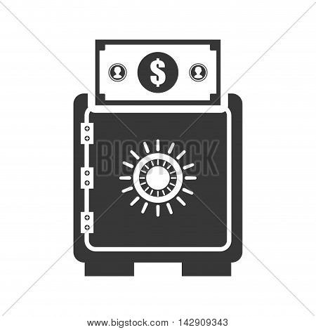 strongbox bill money financial commerce icon. Flat and Isolated design. Vector illustration