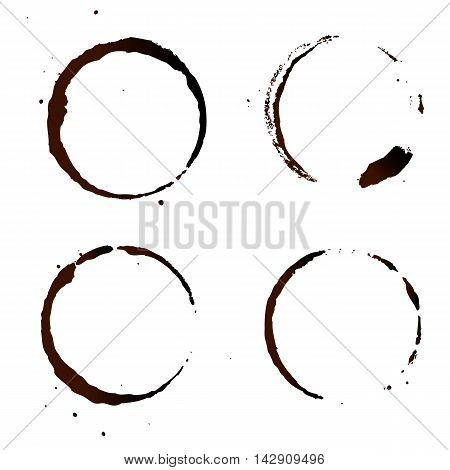 Coffee Stain, Isolated On White Background. Vector EPS 10 illustration.