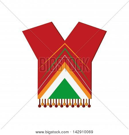 flat design mexican poncho icon vector illustration