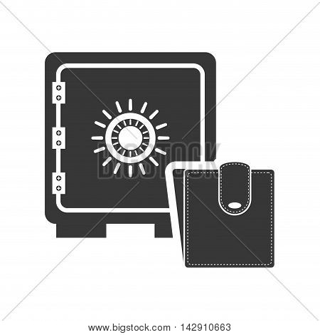 strongbox wallet money financial commerce icon. Flat and Isolated design. Vector illustration