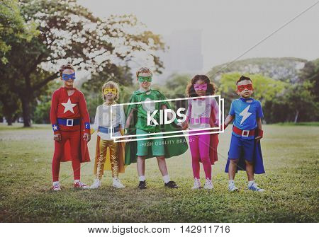 Kids Boys Girls Child Offspring Childhood Youth Concept