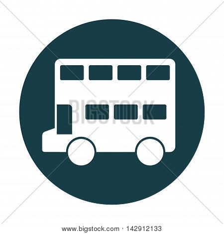 bus london isolated icon vector illustration design