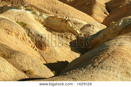 Beautiful Colors Of Rock Formations In Death Valley, California, Usa