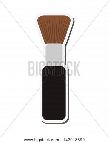 flat design makeup brush icon vector illustration