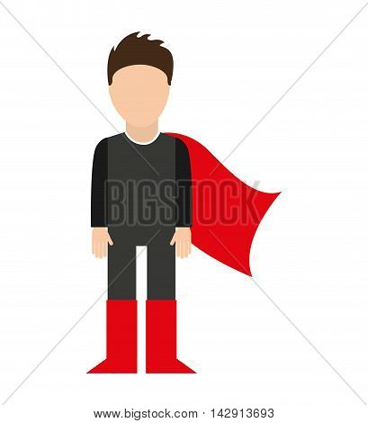 hero character comic isolated icon vector illustration design